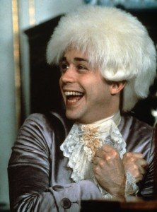Amadeus filminden bir sahne-Mozart