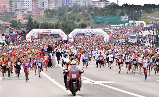 Avrasya Maratonu start
