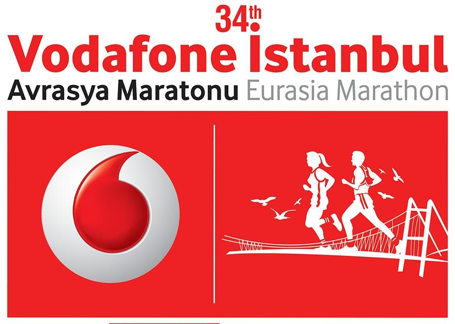 34. Vodafone İstanbul Avrasya Maratonu logosu