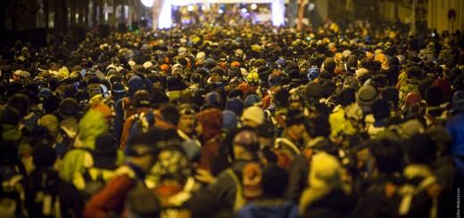 Yarışma Saint Etienne şehrinden geceyarısı başlıyor. Start hattında 7000den fazla yarışmacı oluyor. Foto: GillesReboisson