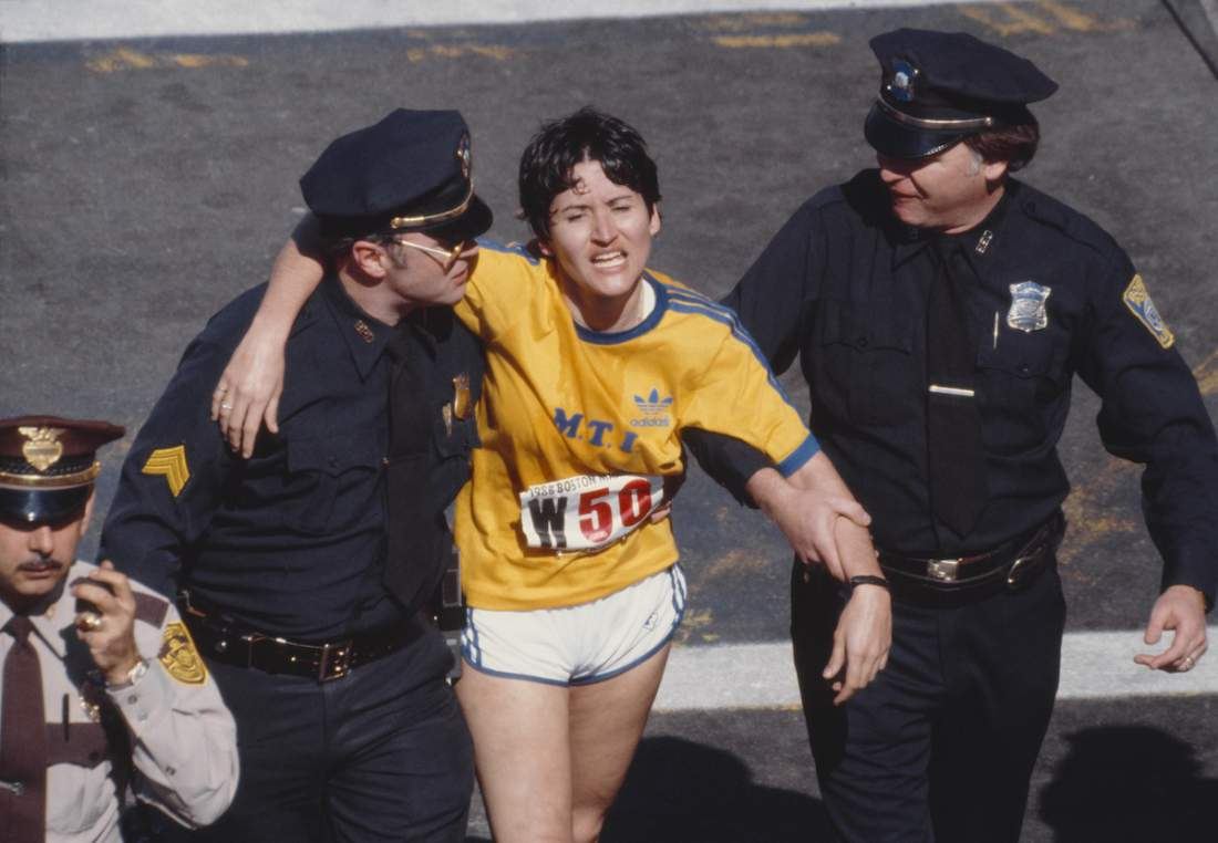 Rosie Ruiz finişte. Foto: timedotcom