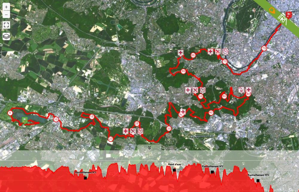 Eco Trail Paris 2016 ITRA onaylı parkur harita ve yükseklik grafiği. ITRA sayfası burada.